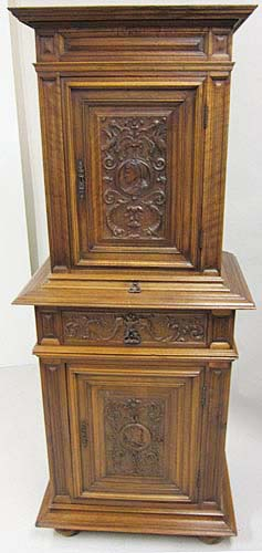 French Antique Cabinet With Medallion Motifs