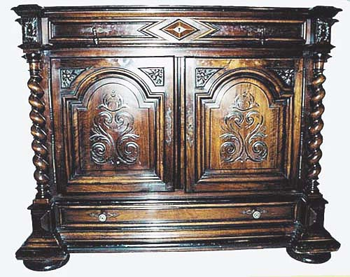 french antique cabinet louis xiii style