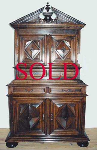 #1035 - Louis XIII Two-Piece Cabinet (18th Century)