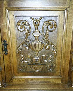 central door panel carving renaissance cabinet
