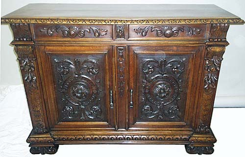 italian buffet cabinet with renaissance ornament