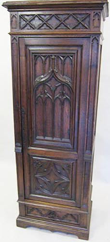 french antique cabinet half-armoire or homme-debout bonnetiere