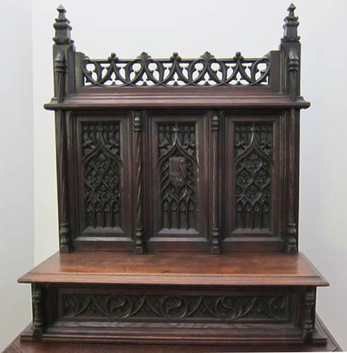Superieur Upper Part Gothic Cabinet