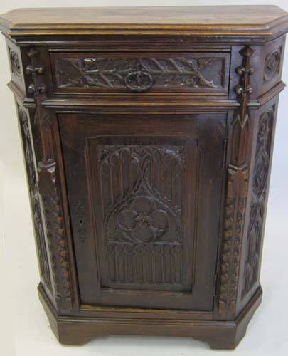 french antique small gothic cabinet