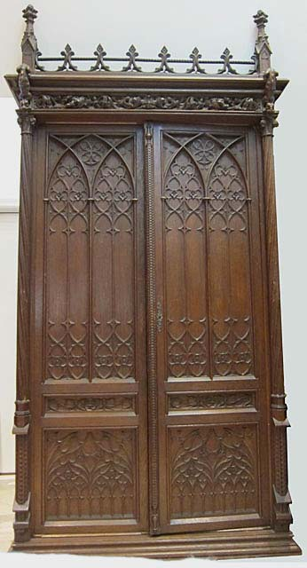 gothic armoire with gargoyles