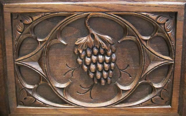 wine grape motif armoire