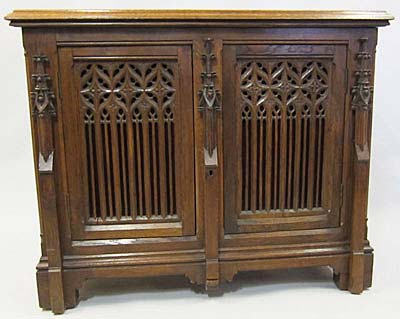 small french antique gothic-cabinet
