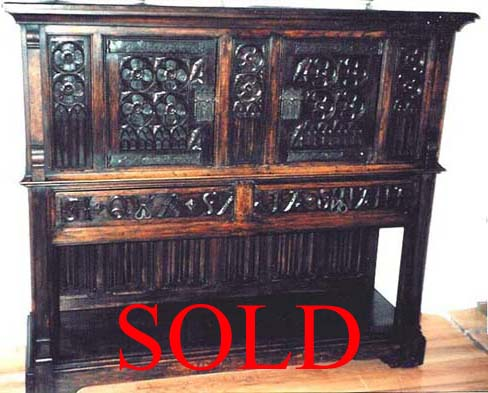 french antique gothic dressoir sold