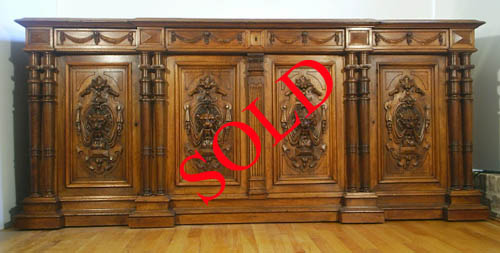 french antique enfilade lions sold