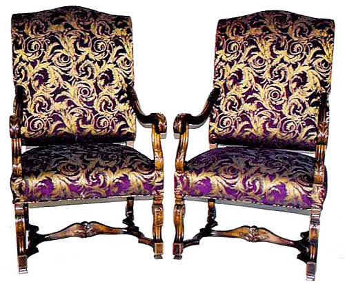 #3106 - Pair of Louis XIV Style Chairs