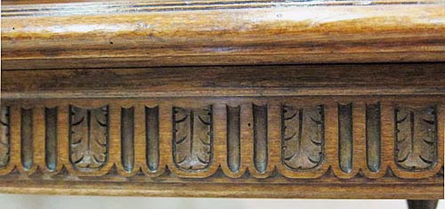 French antique bench in renaissance style