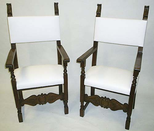 #3301-Pair of Renaissance Tuscan Armchairs