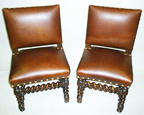 #3212-Pair of Louis XIII Chairs