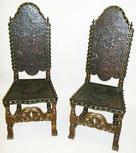4129-pair of renaissance chairs