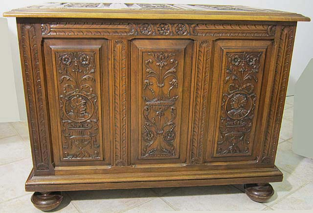 Antique Chest in First Renaissance Style of Fontainebleau