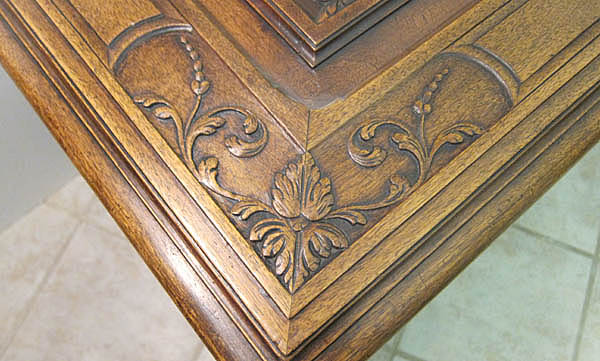 French antique chest with renaissance carvings by m