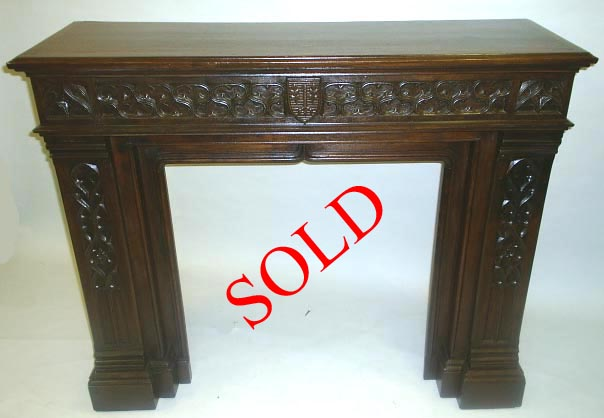 french antique Gothic Fireplace sold