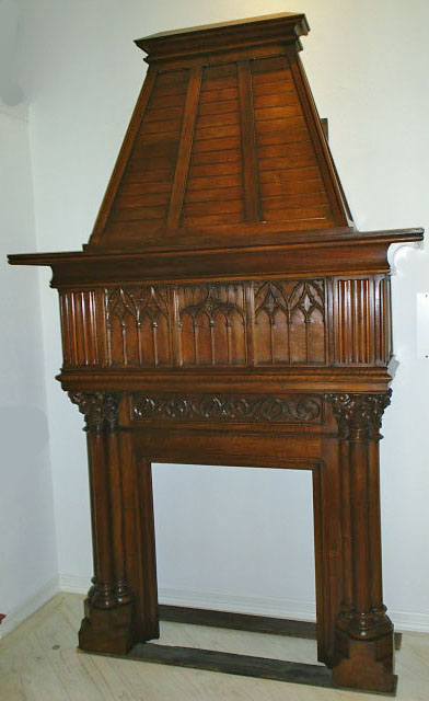 french antique Gothic Fireplace (Mantel)