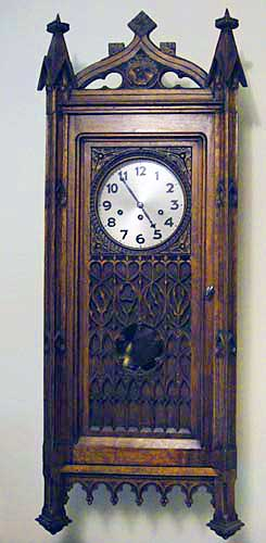 french antique gothic revival  wall-clock