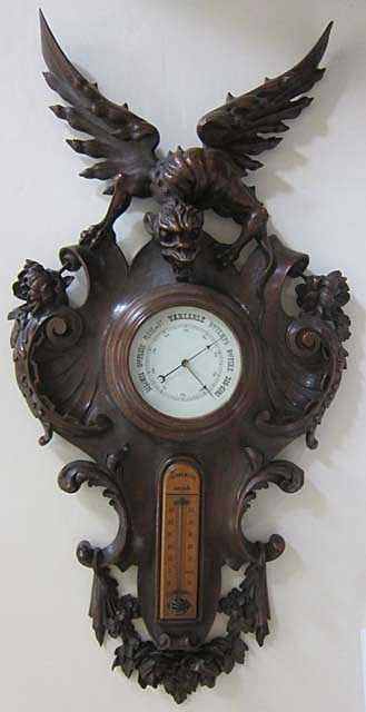 French antique barometer after Viardot