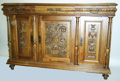 french antique buffet cabinet in renaissance style