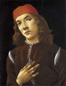 Botticelli portrait of young man
