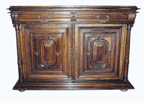 french antique buffet cabinet walnut sand-pile design