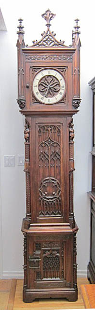 gothic revival grandfather clock
