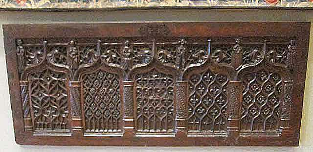 facade of gothic chest (Louvre Museum MRR 65)