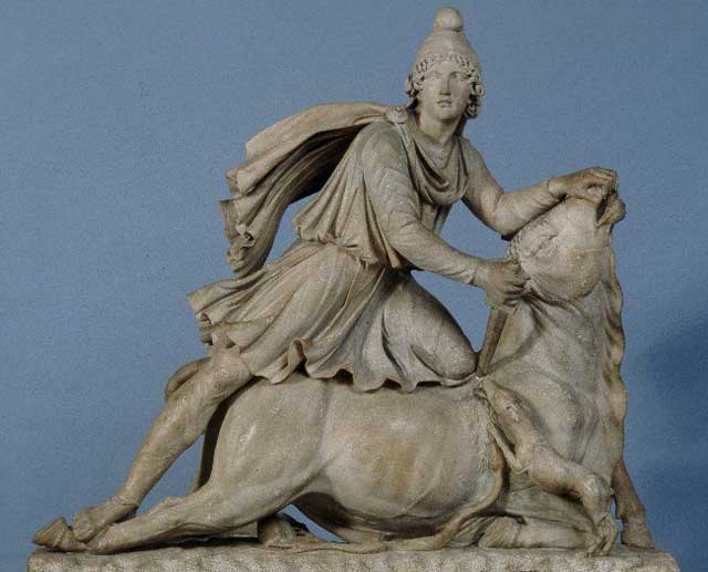 statue of Mithras with Phrygian Cap