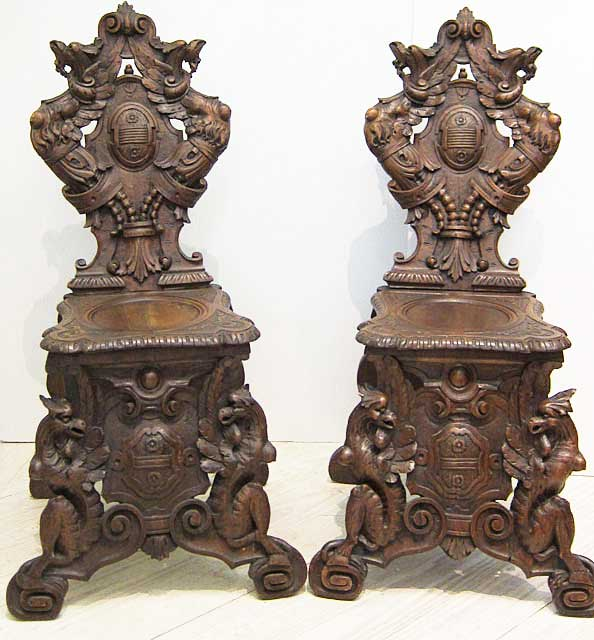 pair of french sgabelli