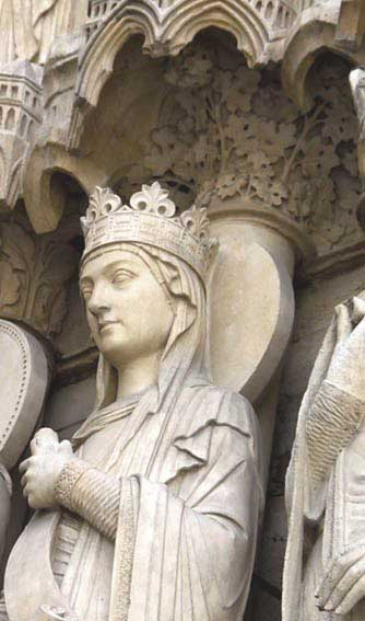 detail of canopy of ruler from Notre Dame de Paris