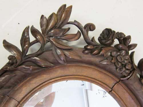 French antique mirror with olive and oak leaves
