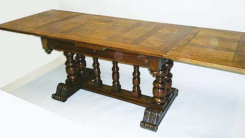 4112-antique table extended