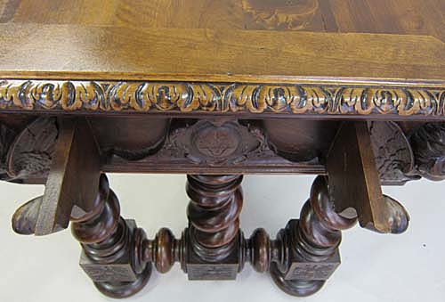 French antique gaming table with exquisite carving from m