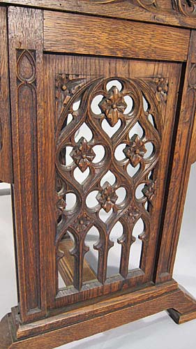 gothic tracery on small table