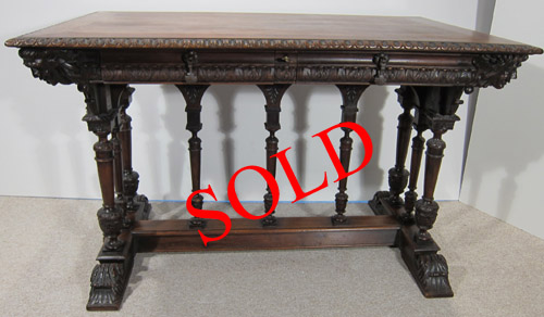 French Antique Trestle Table 16th Century Design